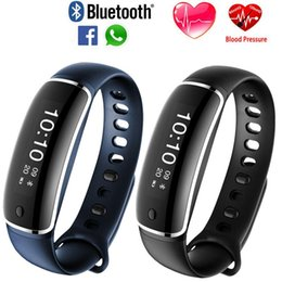 Wholesale Used M4 - 2017 NEW M4 Smart Bracelet Blood pressure Dynamic Heart Rate Sports Fitness Tracker Smart Wristband For IOS Android