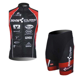 Wholesale Cube Cycle Jerseys - Best selling 2017 CUBE summer cycling clothing Sleeveless Jersey+Bib Short Tights ,ciclismo maillot Cycling vest sportswear