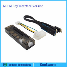 Wholesale Interface Graphics - Freeshipping EXP GDC PCI-E V9.0 Laptop External Independent Graphics Card Dock   Laptop Docking Station(M.2 M key interface Version)