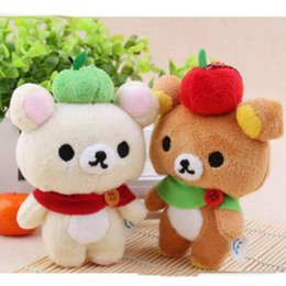 Wholesale Rilakkuma Bear Plush Doll - Kawaii Standing 12CM Lover Rilakkuma Bear Plush Stuffed TOY Soft Bear Figure DOLL Key Chain BAG Pendant Charm