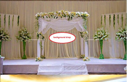 Wholesale Character Background - Background Satin Curtain Drape Pillar Ceiling Backdrop Marriage decoration Veil Background drop Wedding Party Stage Celebration WT031