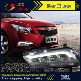 Wholesale Daytime For Cruze - Free shipping ! 12V 6000k LED DRL Daytime running light for Chevrolet Cruze 2015 fog lamp frame Fog light