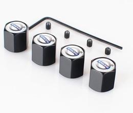 Emblemas de volvo on-line-Bloqueável Preto Prata Cor Anti-Roubo Cap Dust Cap válvula tampas Emblemas Emblemas para Volvo [Três estilo]