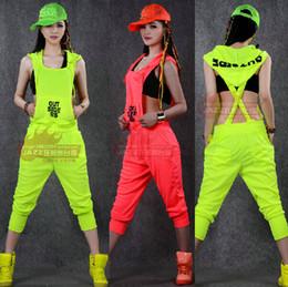 Wholesale Costumes Hip Hop Dance Jazz - Wholesale- 2015 New fashion Hip Hop Dance Costume performance wear European loose leopard harem jazz jumpsuit one piece Pants
