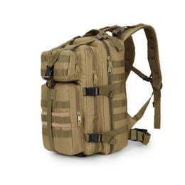 Wholesale Waterproof Canvas Rucksack - Retail Wholesale Outdoor 35L Shoulders Bag 3P Camo Military Tactical Bags Waterproof Canvas Nylon Travel Rucksacks Camping Hiking Backpack