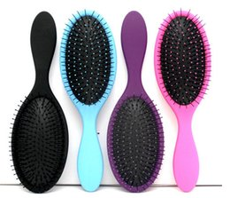 Wholesale Massage Combs - Hot Wet & Dry Hair Brush Original Detangler Hair Brush Massage Comb With Airbags Combs For Wet Hair Shower Brush free DHL