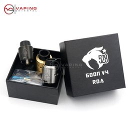 Wholesale Tank For Cigarette Electronic - Wholesale- 2017 Clone GOON V4 RDA Tank Vapor 24MM Rebuildable Dripping Atomizer Peek Insulator Airflow Control For Electronic Cigarette Mod
