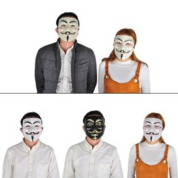 Wholesale Fancy Dress Accessories - Party Masks V for Vendetta Mask Anonymous Guy Fawkes Fancy Dress Adult Costume Accessory Party Cosplay Masks Halloween Toys 0708073