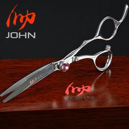 Wholesale Japanese Shear Scissors - Wholesale- John Shears Japanese VG10 Cobalt Alloy Scissors for Cutting Hair Professional Hairdressing Scissors for Barber Shop Supplies