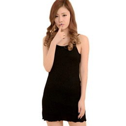 Wholesale Long Vest Tops Wholesale - Wholesale-Hot Women Long Cami With Shelf Bra Camisole Adjustable Spaghetti Strap Tank Top Vest