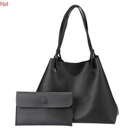 Wholesale Women Handbags Work - Women Shoulder Bag Soft Leather Top Handle Messenger Work Bags Ladies Tassel Tote Casual Korea Handbag Women's Composite Bag Black SVN030856