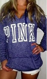 Wholesale Sweatshirt Pocket Pattern - 2017 new Autumn New Women Hoodies Brand Bts VS Pink Print Hoodie Frenchterry Sweatshirts Fashion Harajuku Tracksuit Tops
