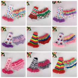 Wholesale Socks Tutu - Baby Clothes Christmas Kids Suits Ruffled PP Pants Leg Warmers Hallowmas Girls Outfits Diaper Cover Socks Bloomer Underwear Shorts B2792
