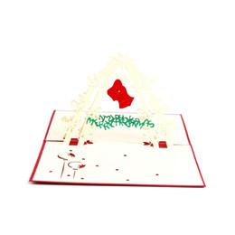 Shop laser cut pop up cards uk laser cut pop up cards free 10pcs lot laser cut invitations 3d pop up card cubic christmas bell greeting cards custom postcard m4hsunfo