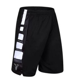 Wholesale Short Trousers - 2017 New Hot Kobe Basketball Shorts Sports Jerseys Mens Training Short Trousers Soccer Running Gym Shorts with Zipper Pocket