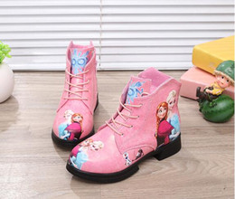 Wholesale Girls Pattern Boots - Kids Boots Girls 2016 Autumn New Fashion Girls Cartoon Sneakers Children Ankle Boots print Pattern Footwear Botas