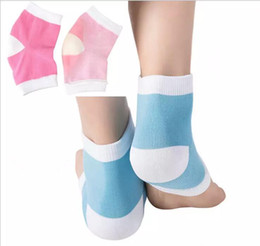 Wholesale Gel Spa Socks - 2 Colors Gel Heel Socks Moisturing Spa Gel Socks feet care Cracked Foot Dry Hard Skin Protector