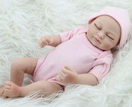 Wholesale Lifelike Boy Dolls - 11inch Handmade Lifelike Newborn Baby Vinyl Silicone Realistic Reborn Doll Girl