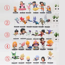 Wholesale Dragon 11 - 6pcs set 5-9cm Dragon Ball Z Action Figure The Historical Characters WCF PVC Action Figure Collection Model Toy Doll