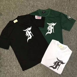 Wholesale Mesh Basketball Shorts - 2017 Best Quality Justin Bieber FOG Fifth Collection Men T Shirt Hip-Hop Mesh embroidery letters Oversized Basketball Tee 3color