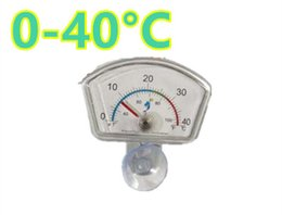 Wholesale Oval Fish Tanks - New Aquarium Fish Tank Water Submersible Sucker 0-40 Celsius Waterproof Oval Shape Dial Index Thermometer Suction