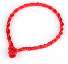 Wholesale String Kabbalah Lucky Bracelet - Wholesale-10Ps Good Luck Red String of Fate Rope Bracelets Friendship Bangles Fashion Handmade Cord Lucky Kabbalah Bracelet Christmas Gift