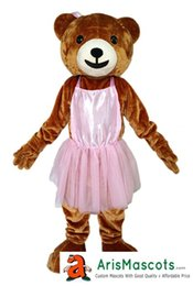 "Wholesale Mascotte Teddy Bear - 100% real Photos Lovely ""Smile Girl Teddy Bear"" mascot costume, Animal mascots, Customized mascotte, mascota"