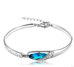 bijoux en diamant bleu Promotion Bracelets de saphir de luxe bijoux nouveau style breloques bleu Autriche diamant bracelet bracelet