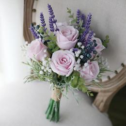 Jane Vini Artificielle Roses Rose Pourpre Lavande Fleurs De Mariage Bouquets De Mariée 2018 Bouquet Mariage Mariées Demoiselle D'honneur Photographie Broche ? partir de fabricateur