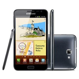 Recuperado Samsung Galaxy Note N7000 5.3 polegadas Big Screen Original Dual Core 16GB ROM 8MP 3G WCDMA desbloqueado Android Celular Grátis DHL 1PC de