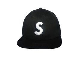 Wholesale Cheap Hats Logo - Snapbacks Suprem FW15 S Logo 6-Panel Camp Cap Box Logo Adjustable Suprem Snapback Baseball Hip Hop Sports Cap Hat Cheap Sale