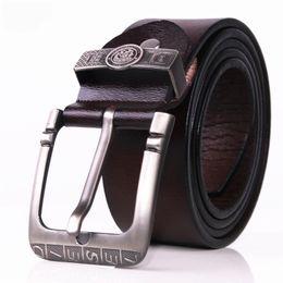 Wholesale Bronze Jeans - designer belts men high quality genuine leather belt man fashion strap male cowhide belts for men jeans