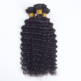 Wholesale Virgin Brazilian Hair Online - Brazilian Deep Wave Virgin Hair Brazilian unprocessed hair 3pcs lot100% Curly Virgin Hair Factory Selling Cheap Brazilian Deep Weave Online