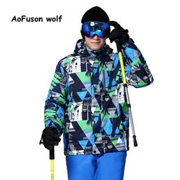 Wholesale Snowboard Jackets Brands - Wholesale- 2016 New Brand Ski Jacket Men Waterproof Thermal Winter Climbing Snow Jacket Coat For Outdoor Mountain Skiing Snowboard Jackets