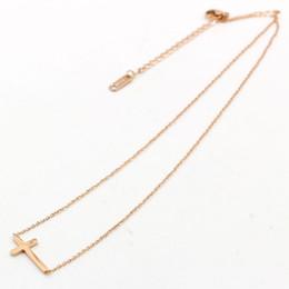 Wholesale Big Rhinestone Cross Pendants - Big Promotion antique cross stainless steel pendant necklace fashion jewelry for women wholesale