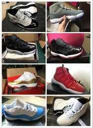 Wholesale satin fabric for sale - 2017 Free Shipping basketball Shoes new Cheap 11 XI Citrus concord bred Sneaker Sport Shoe For Online Sale US size 8 -13