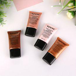 Wholesale Illuminator Cosmetics - NYX Brand Liquid Foundation Face Concealer Makeup Born To Glow Liquid Illuminator BB Cream Make Up Powder Cosmetics Skin Care 18ml