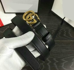 Wholesale Women Fashion Gold Belt - 2017 New Famous Brand Men Women Leather Belt Gold Buckle Women Genuine Leather Designer Belts asdy