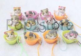 Wholesale Buy Pendants - Hot faddish! 12pcs Many different colors are the mug Cat Pendant Gift of the children(2.5--3cm) buy free shipping now
