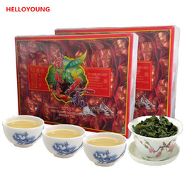 Tee grüner berg online-Promotion 250g chinesische Bio Oolong Tee Fresh Natural Taiwan High Mountains New Spring Oolong Green Tea Health Care Tea Green Food