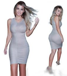 Wholesale Pencil Dresses For Sale - 2017 New Top Sales Dresses for Women Tight Elastic Sexy Mid Calf Dress Casual Show Women Shin Clothing Pack Hip Pencil Vintage dresses