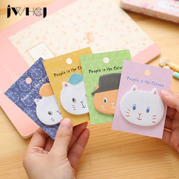 "добавить комментарий Скидка Wholesale- 4 pcs/lot JWHCJ ""people in the catown"" cat memo pad paper sticky notes notepad stationery papeleria school supplies"