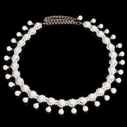 catena 14k della pancia Sconti Hot New Belly Dance Nappa catena vita donne ciondolo perla cintura pancia danza catene Chains HJ159