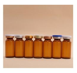 Flaconi iniezione vetro trasparente online-Nuova capsula flip-off in vetro trasparente da 10 ml, bottiglia di vetro color ambra, contenitori in vetro da 10 cc