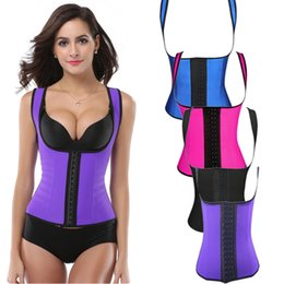 Wholesale Corset For Slim Waist - Latex Body shaper for Women Sexy Lady Shapewear Waist Trainer Cincher Loseweight Strap Belt Shaper Burning Slim Womens Corset Bustier RF036