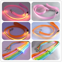 Wholesale White Cat Halloween Costume - Pet Dog Puppy Cat Kitten Soft Glossy Reflective Led Leash Safety Leashes Buckle Pet Supplies Products Colorful 160927