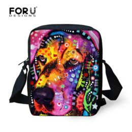Wholesale Mochila Zoo - Multi colored Animal Women Messenger Bag Cute Cat Dog Head Crossbody Bags for Lady Zoo Small Travel Shoulder Bag mochila bolsas