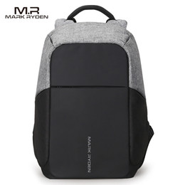 Wholesale Pocket Laptops - Multifunction USB charging Men 15inch Laptop Backpacks For Teenager Fashion Male Mochila Leisure Travel backpack anti thief