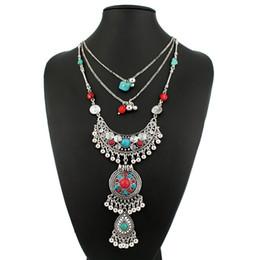 Wholesale Luxury Boho Fashion - Wholesale-2015 Luxury New design vintage boho Necklace long Chain Choker Statement Necklaces Pendants fashion for women jewelry