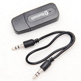 Wholesale Home Car Usb - USB 3.5mm Wireless bluetooth receivers home stereo receiver car receiver Music Audio Car Handsfree Receiver Adapter